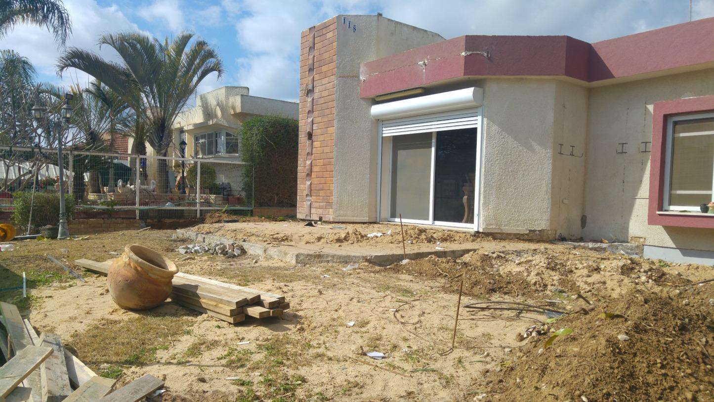 מילוי אדמה והכנת תשתית בטון
